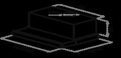 Вытяжка Maunfeld VSH 60 черный  - схема