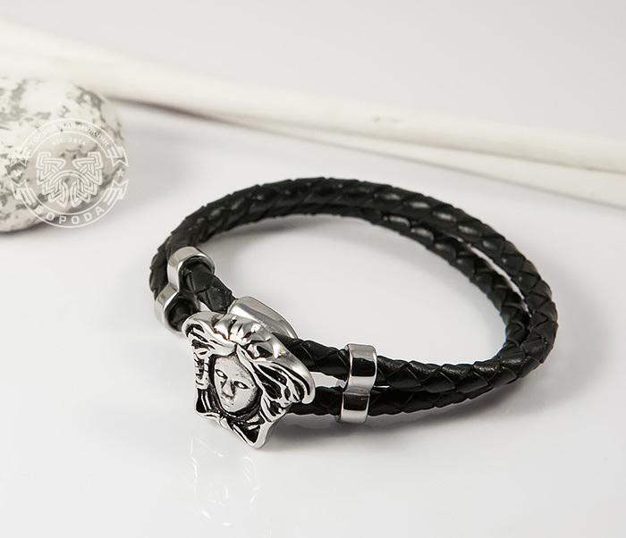 BM384 Оригинальный браслет «Горгона» из кожаного шнура (20 см)