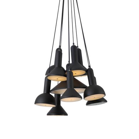 Подвесной светильник копия TORCH by Sylvain Willenz (черный, 10 плафонов)