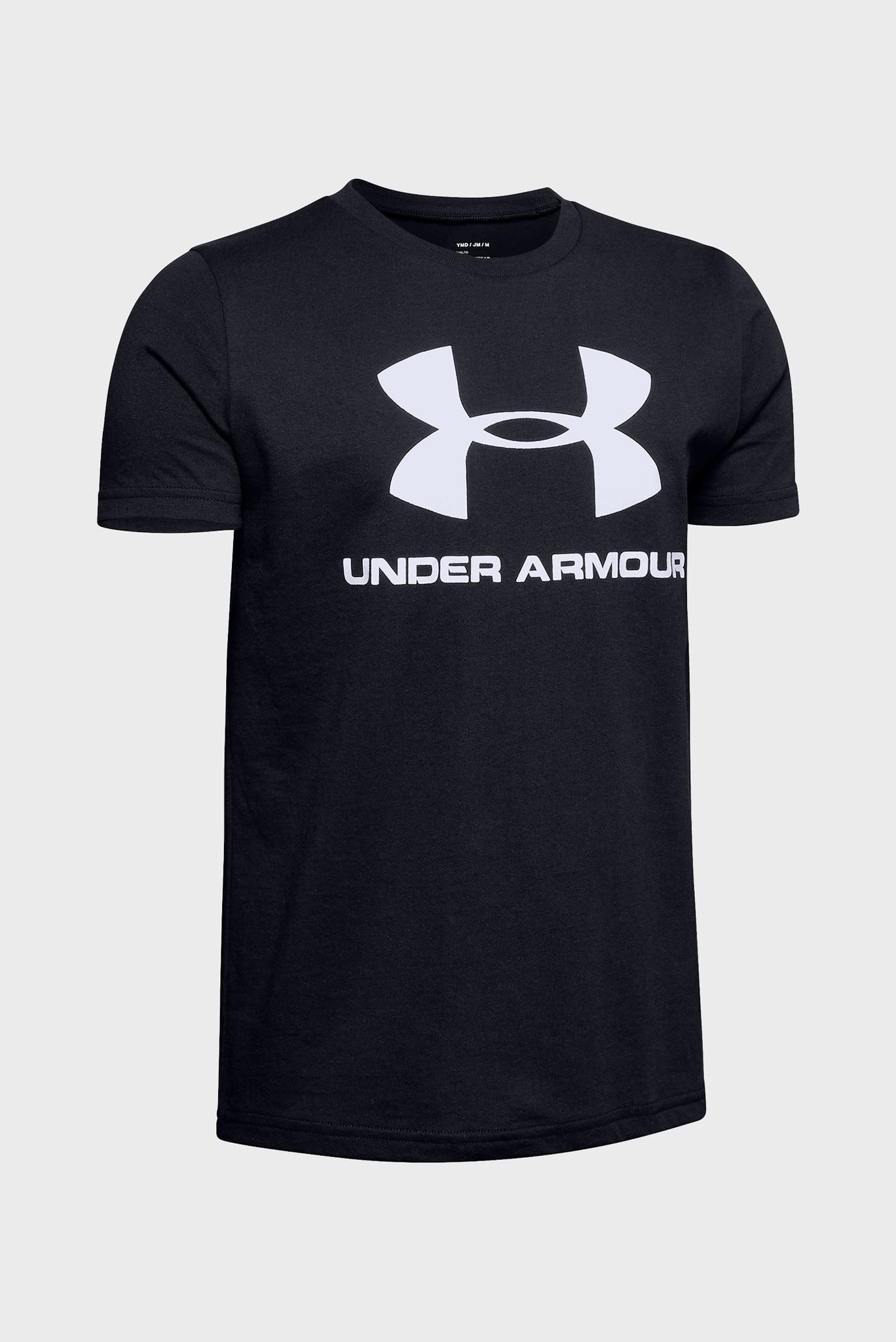 Детская черная футболка Sportstyle Logo SS Under Armour