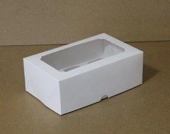 Коробка для 6 капкейков 25*17*10 с окном, белая