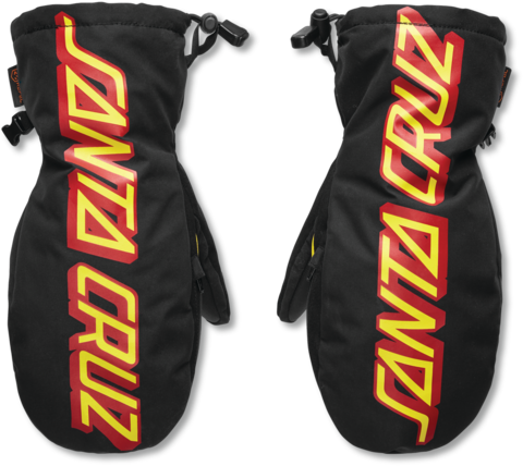 Варежки Thirtytwo Santa Cruz Mitt 10k - black/yellow