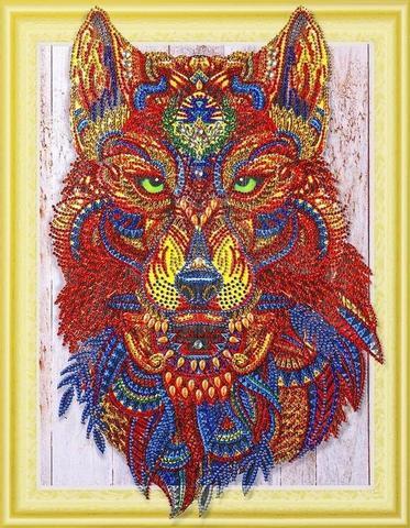 Алмазная Мозаика 5D 40x50 Коричневый лев