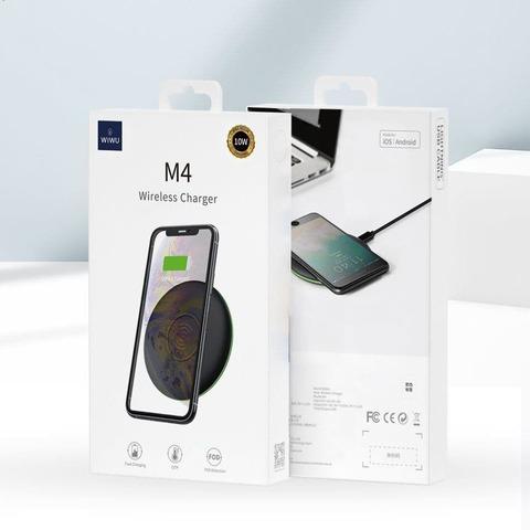 Беспроводная зарядка Wiwu M4 10W Wireless Charger /black/