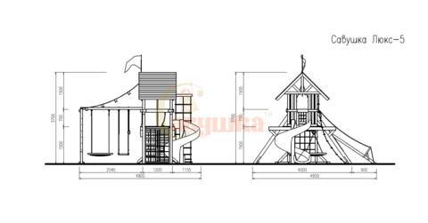 Деревянный игровой комплекс Савушка Lux - 5