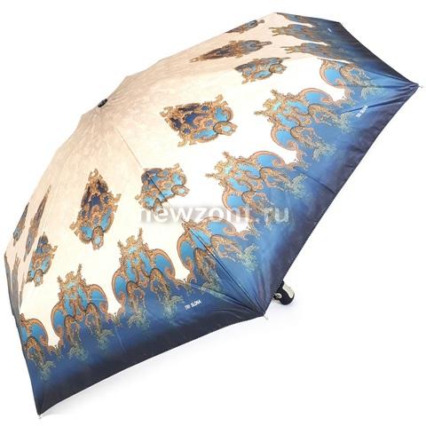Мини зонт автомат 3 Слона L4700-J 4 сложения бирюзово-бежевый