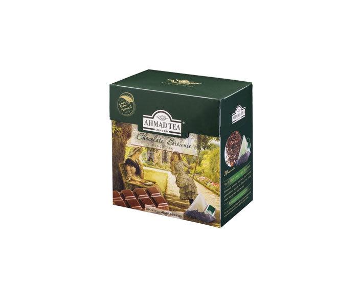 Чай черный в пирамидках Ahmad Tea Шоколадный брауни, 20 пак/уп