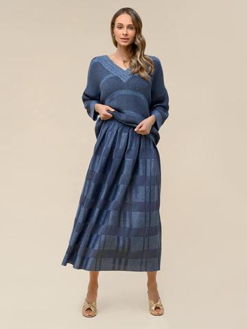 Женская юбка цвета деним из вискозы - фото 3