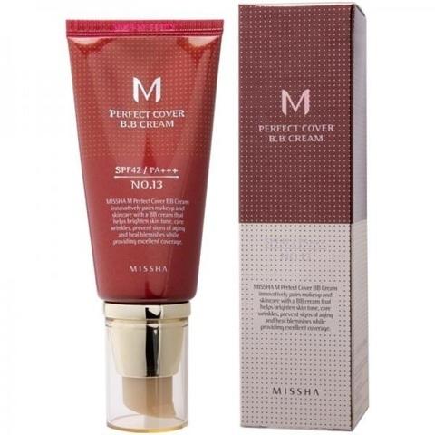 Missha M Perfect Cover BB Cream SPF42/PA+++ тональный крем с прекрасной кроющей способностью тон № 21 светлый беж
