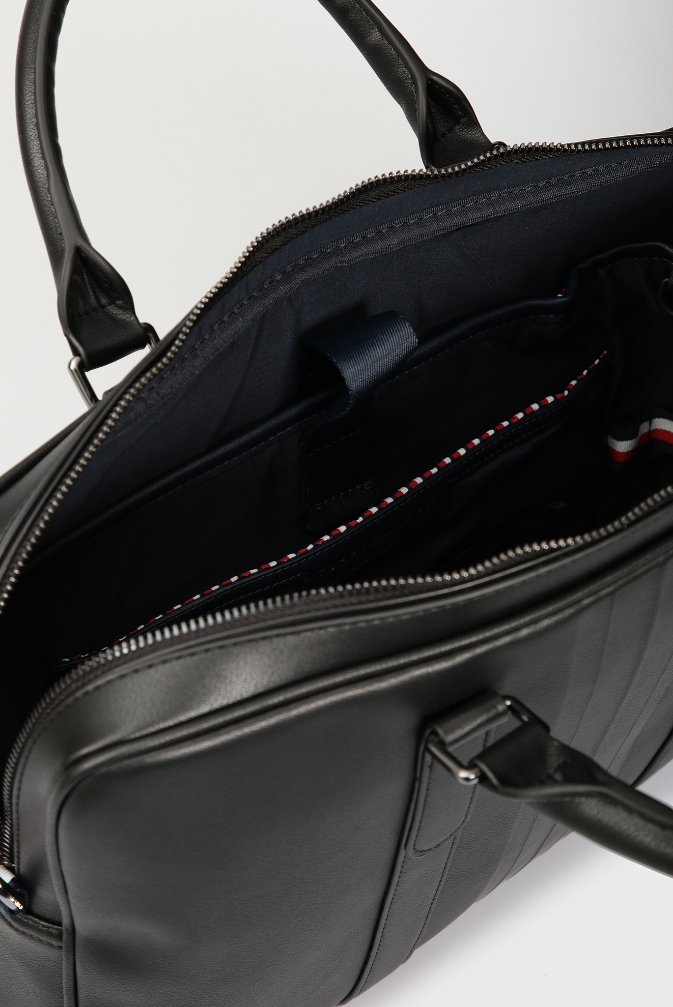 Мужская черная кожаная сумка для ноутбука Tommy Hilfiger