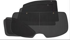 Каркасные автошторки на магнитах для ACURA MDX (1) (2001-2006) внедорожник. Комплект на заднюю полусферу мз 5 экранов