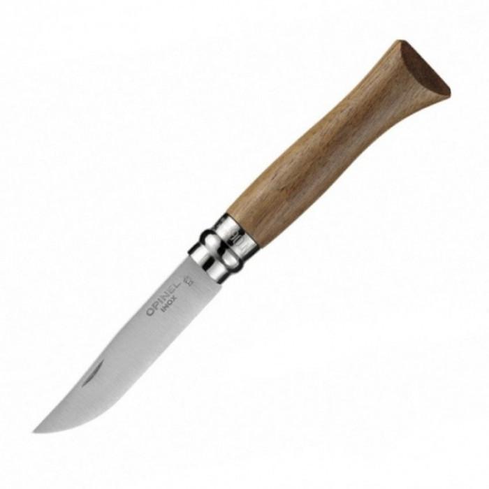Нож Opinel №6, нержавеющая сталь, ореховая рукоять в картонной коробке