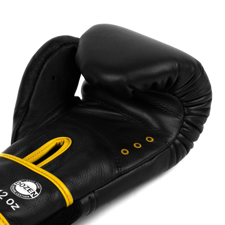 Перчатки Dozen Monochrome Black/Yellow вентиляция
