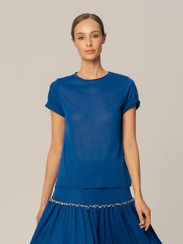 Женский джемпер синего цвета из вискозы - фото 2