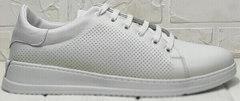 Перфорированные кеды кроссовки белые женские Evromoda 141-1511 White Leather.