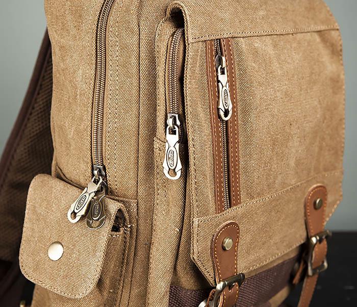 BAG394-2 Коричневый городской рюкзак с одной лямкой через плечо фото 04