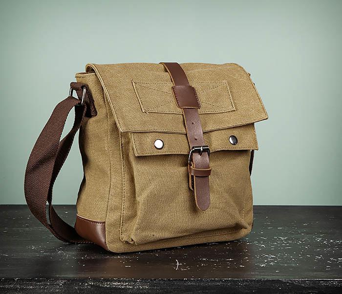BAG503-2 Мужская сумка планшет из плотной ткани фото 02
