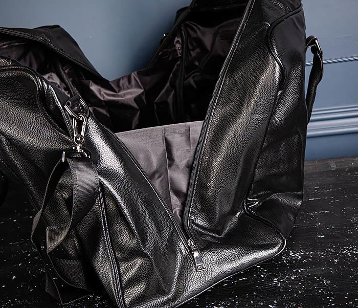 BAG521-1 Кожаная дорожная сумка с ручками и ремнем фото 11