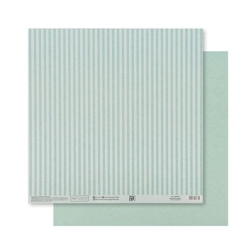 Бумага для скрапбукинга «Мятная базовая полоска», 30.5 × 32 см, 180 гм