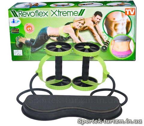 Revoflex Xtreme - роликовый тренажер для всего тела (40 упражнений)