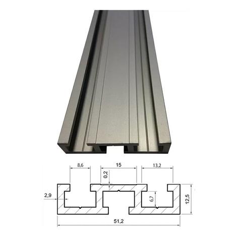 Профиль-шина 51 мм, анод., серебро матовое, 1 м