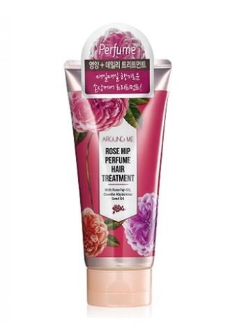WELCOS Маска для поврежденных волос Around me Rose Hip Perfume Hair Treaetment 200мл