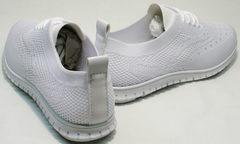 Легкие женские кроссовки на лето Small Swan NB-821 All White.