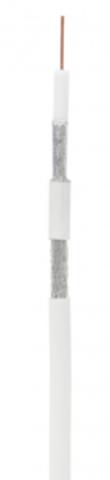 Кабель коаксиальный омедненный NETLAN RG-11 CCS, In, PVC (EC-C2-21123A-WT-3) (305м.)