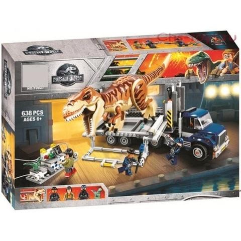Конструктор Dinosaur World 10927 Транспорт для перевозки Тираннозавра