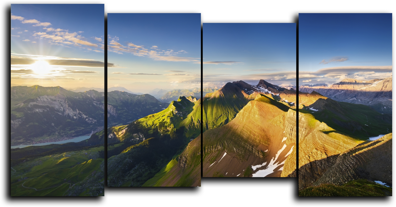 """Природа Модульная картина """"Рассвет на горе"""" М926.png"""