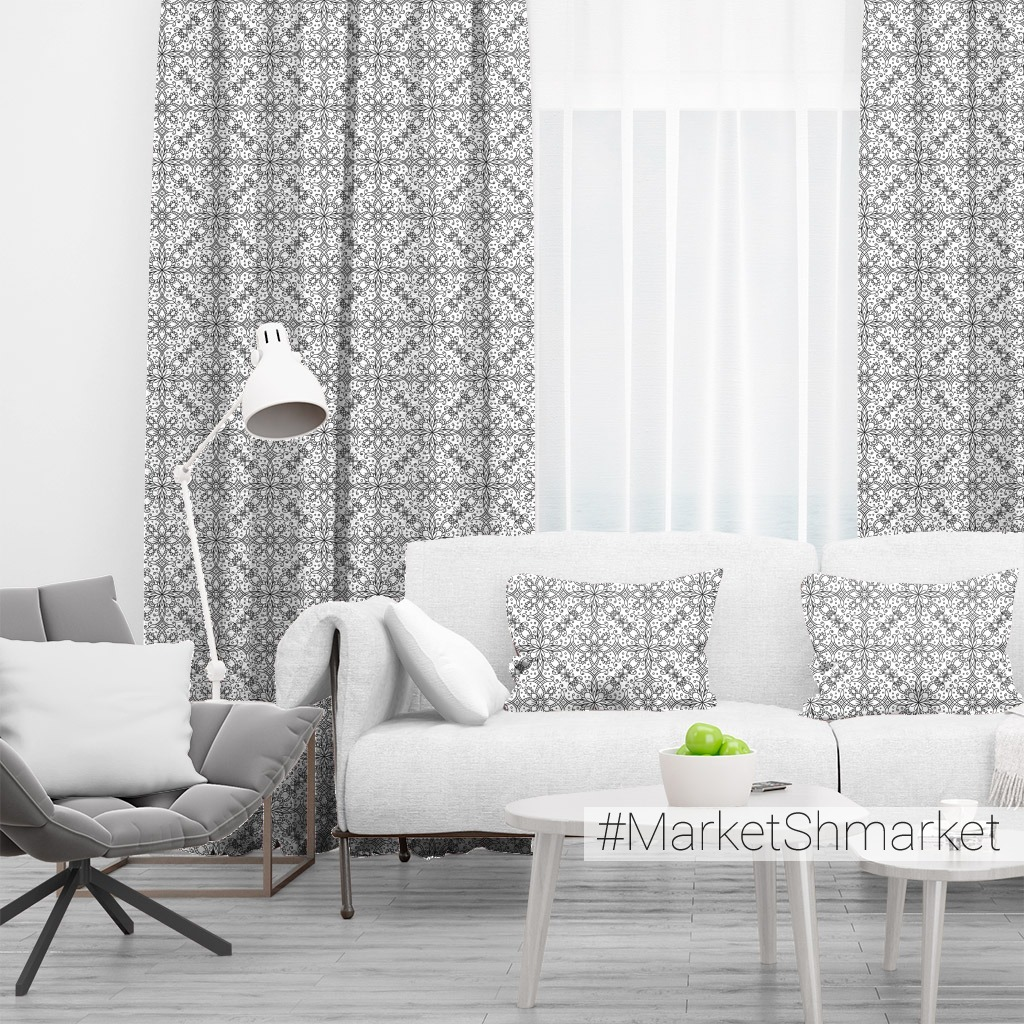Черно-белая мозаика