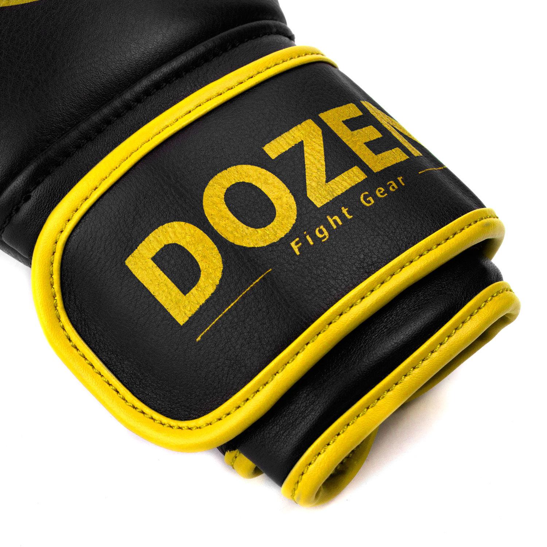 Перчатки Dozen Monochrome Black/Yellow манжет