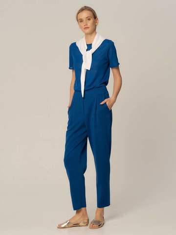 Женский джемпер синего цвета из вискозы - фото 4