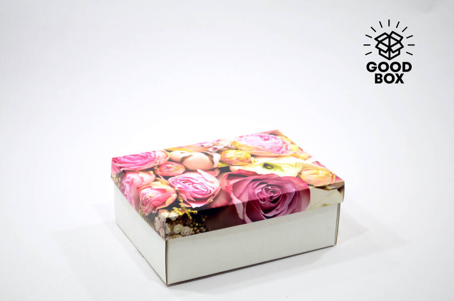 Подарочные коробки с пионами купить недорого в Алматы