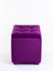 Пф-400-Я Пуфик квадратный (фиолетовый) с ящиком для хранения