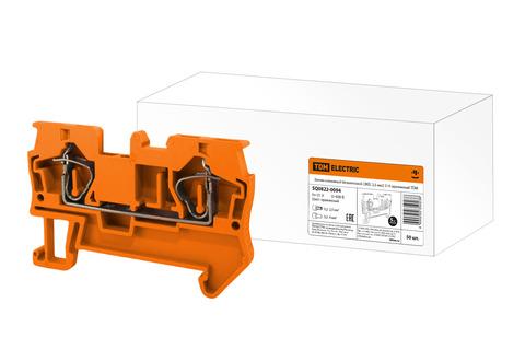 Зажим клеммный безвинтовой (ЗКБ) 2,5 мм2 31А оранжевый TDM