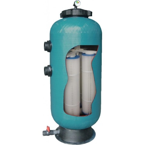 Фильтр диатомитовый шпульной навивки PoolKing KD35 16 м3/ч диаметр 400 мм с боковым подключением 2