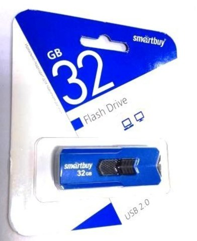 Флеш-накопитель USB  32GB  Smart Buy  Stream синий