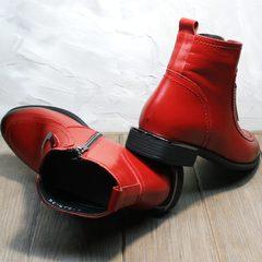 Модные женские ботильоны красные Evromoda 1481547 S.A.-Red