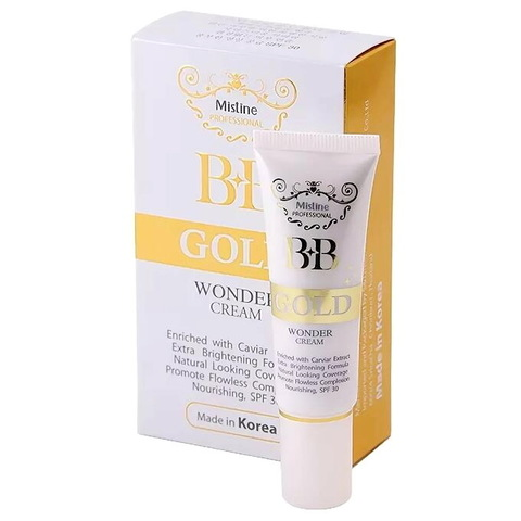 BB крем Mistine Wonder Gold с экстрактом черной икры, 15 мл.
