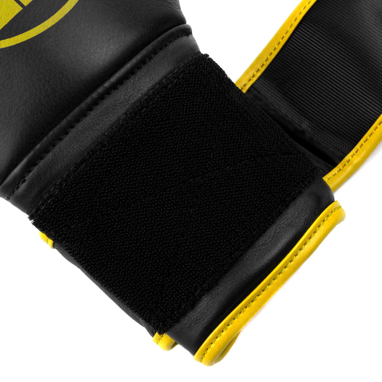 Перчатки Dozen Monochrome Black/Yellow липучка петли