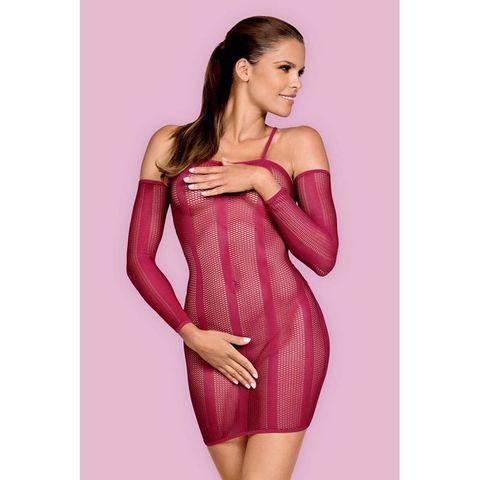 Бордовое платье в сетку Dressie