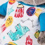 Кот Басик в футболке космос и в шапочке