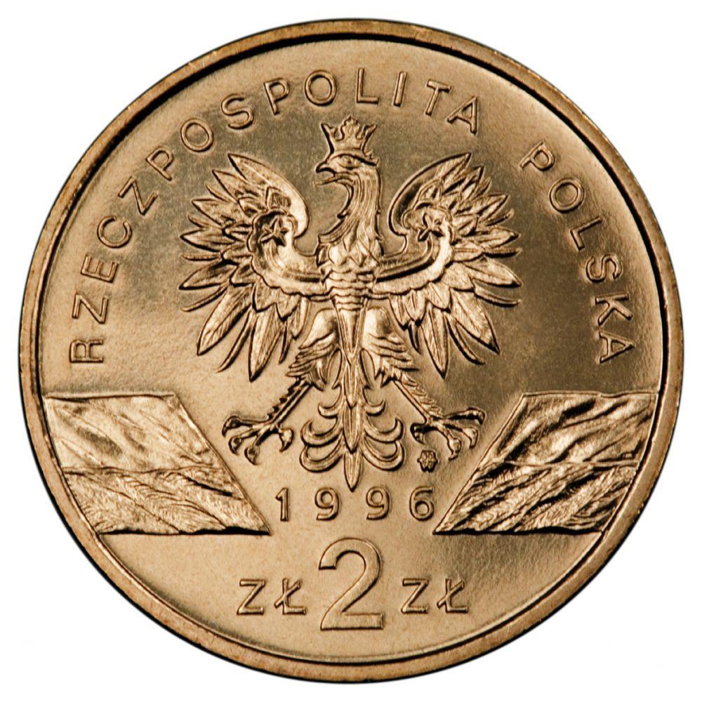 2 злотых Ёж (животный мир) 1996 год, Польша. UNC