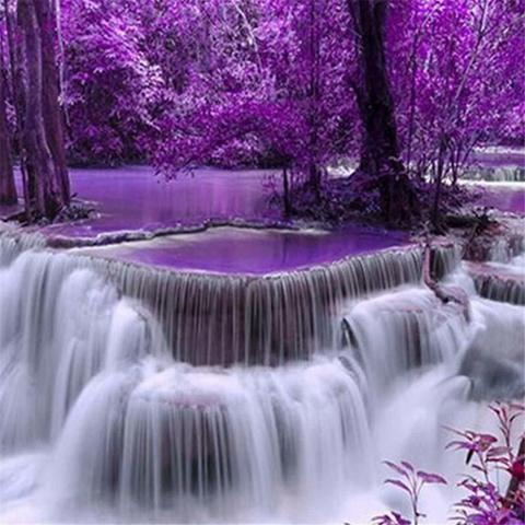 Алмазная Мозаика 50x65 Розовый водопад