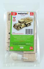Конструктор 3D деревянный подвижный Lemmo Грузовичок Тент