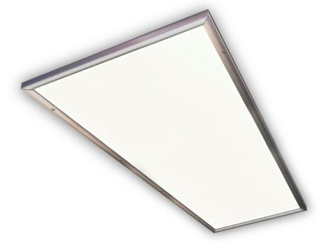 Ультратонкая светодиодная панель серии СВО 295х1195, 40 Вт, 6000 К, хром, TDM