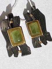 Тимора-нефрит(серьги  из серебра)
