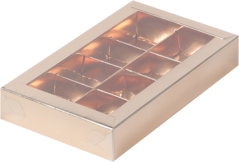 Коробка для конфет (на 8 шт.) золото (19*11*3)