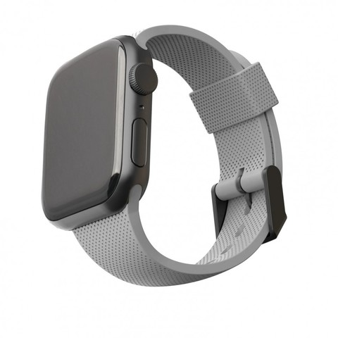 Ремень силиконовый [U] DOT textured Silicone для Apple Watch 44/42 серый (Grey)